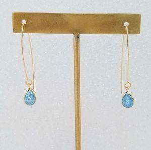 14k gold fill open wire hoop earrings